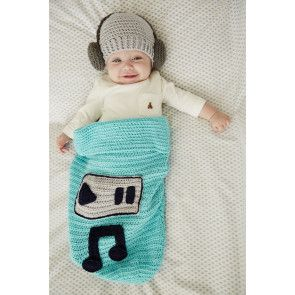 Baby music set sleeping bag cocoon and hat