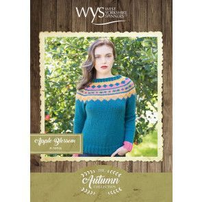 Apple Blossom Sweater in West Yorkshire Spinners Bluefaced Leicester Aran Pattern