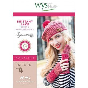 Brittany Lace Beret and Hand Warmers in West Yorkshire Spinners Signature 4 Ply