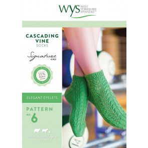 Cascading Vine Socks in West Yorkshire Spinners Signature 4 Ply Pattern