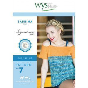 Sabrina Top in West Yorkshire Spinners Signature 4 Ply