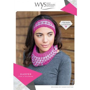 Harper Cowl and Headband in West Yorkshire Spinners Wensleydale Gems