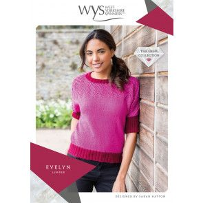 Evelyn Jumper in West Yorkshire Spinners Wensleydale Gems