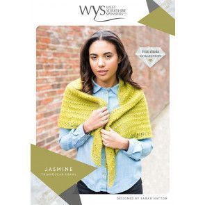 Jasmine Triangular Shawl in West Yorkshire Spinners Wensleydale Gems