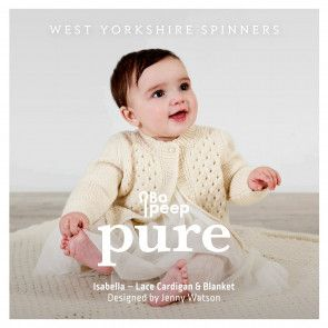 Isabella Cardigan and Blanket in West Yorkshire Spinners Bo Peep Pure DK (98001)