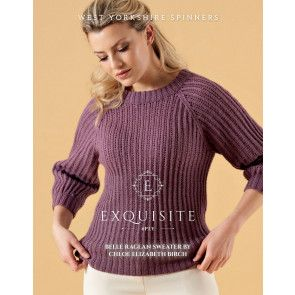 Belle Raglan Sweater in West Yorkshire Spinners Exquisite 4 Ply Pattern