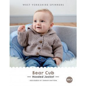 Hooded Jacket in West Yorkshire Spinners Bo Peep 4 Ply (DBP0015)