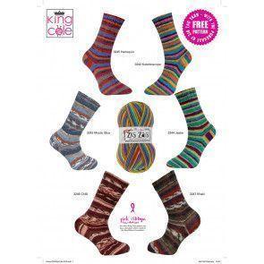 Men and Ladies Socks in King Cole Zig Zag 4 Ply