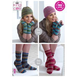 Hats, Socks and Wrist Warmers in King Cole Zig Zag 4 Ply