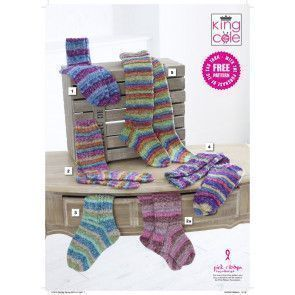 Children and Ladies Socks in King Cole Zig Zag 4 Ply