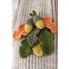 Acorn And Leaf Brooch Crochet Pattern