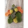 Acorn And Leaf Brooch Crochet Pattern
