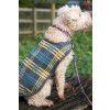Vintage Dog Coat With Plaid Design Knitting Pattern