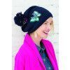 Embroidered Bobble Hat Knitting Pattern