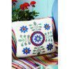 Floral Intarsia Cushion Cover Knitting Pattern