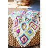 Granny Square Blanket With PomPoms Crochet Pattern