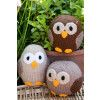 Owl Make Family Set Knitting Patterns