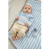 Striped Baby Set Knitting Patterns