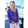 Womens Jumper With Frilly V Neck Knitting Pattern