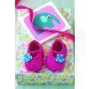 Baby Shoes With Flower Crochet Pattern