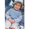 Boys Jumper With Striped Sleeves Knitting Pattern