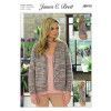 Jacket in James C. Brett Stonewash DK (JB415)