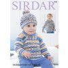 Sweaters and Hat in Sirdar Snuggly Baby Crofter DK (4800)