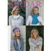 Scarf, Hat, Wrist Warmers and Snood in Sirdar No.1 (8047)