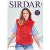 Zipped Gilet in Sirdar Funky Fur and Sirdar No.1 DK (8239)