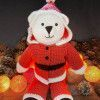 Bo Bear Santa Suit in West Yorkshire Spinners Bo Peep DK Pattern