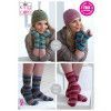 Hats, Socks and Wrist Warmers in King Cole Zig Zag 4 Ply - PDF - Print at Home