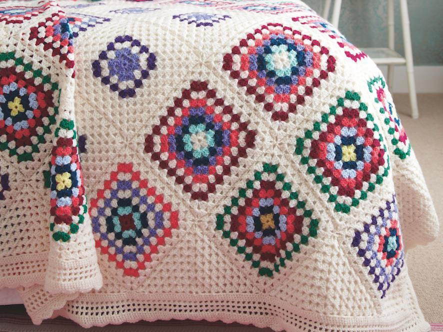 Grandmother's Footsteps Blanket Crochet Along
