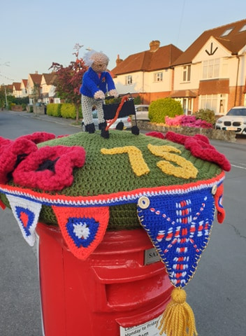 VE Day Tribute from Mystery Crocheter