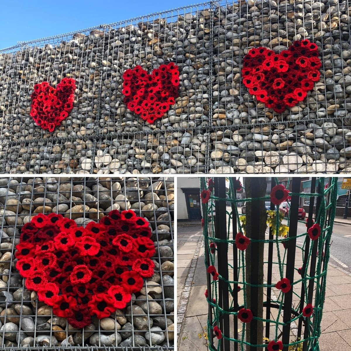 Poppy Displays For Remembrance Day