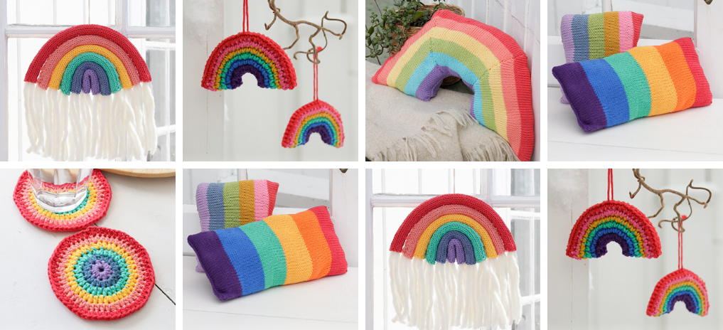 FREE Rainbow Patterns to Knit and Crochet