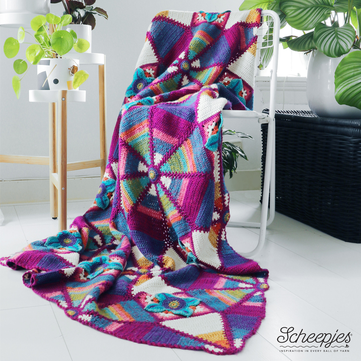 Inspired by Janie Crow's Trips to India: Scheepjes Royal Garden Blankets Are Now in Stock!
