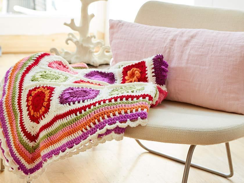 Our granny square crochet along in Stylecraft yarn - the Flower Garden CAL