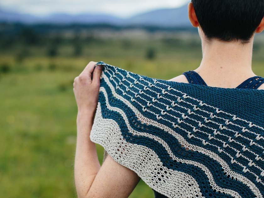 The Great Wave KAL in Erika Knight yarn - second instalment