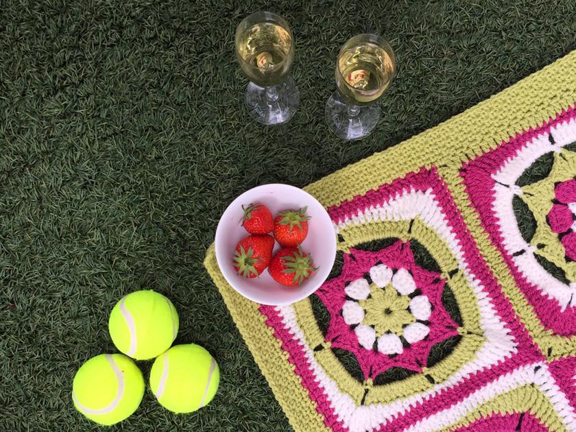 Wimbledon Picnic Blanket CAL - Join our mandala blanket crochet along
