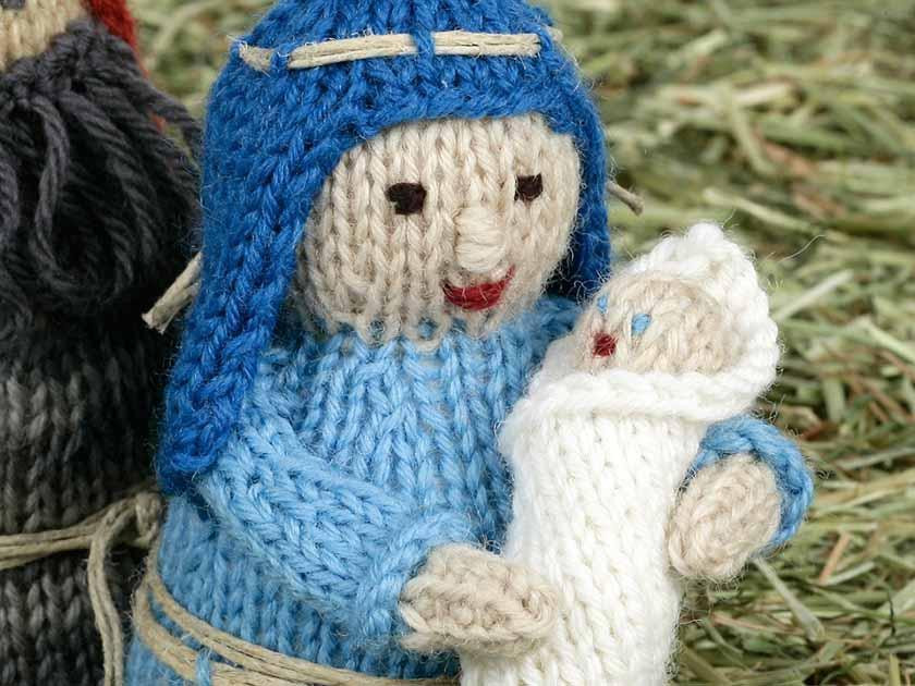 Nativity KAL - first instalment - Mary and baby Jesus