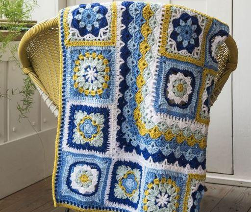 Free Granny Square Pattern The Portuguese Tile Blanket