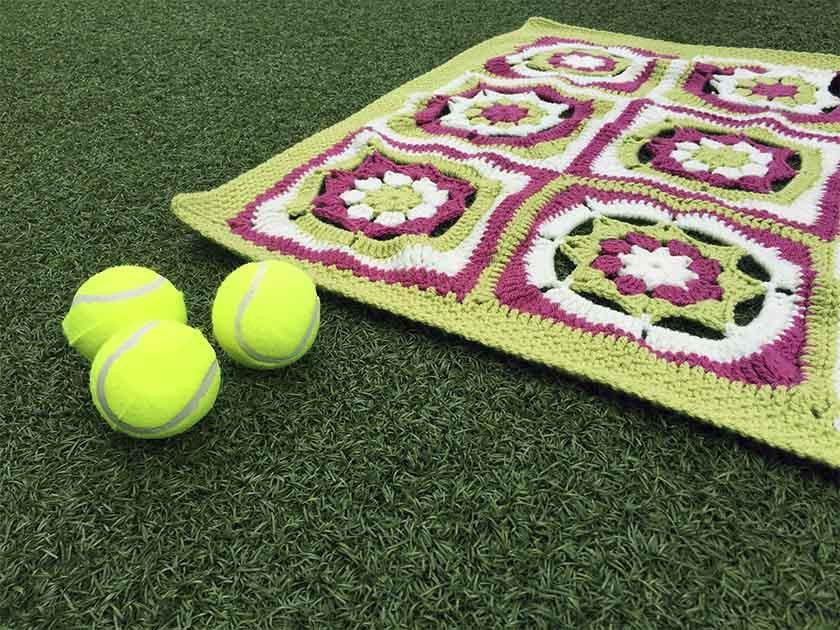 Mandala pattern for Wimbledon picnic blanket CAL - third instalment