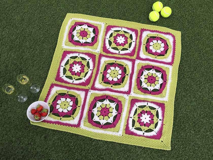 Wimbledon CAL blanket crochet pattern - final instalment