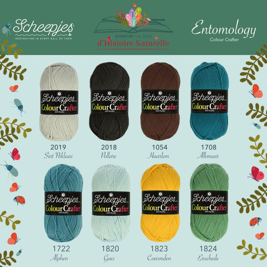 Scheepjes CAL 2020 d'Histoire Naturelle Colour Crafter Colour Pack - Entomology