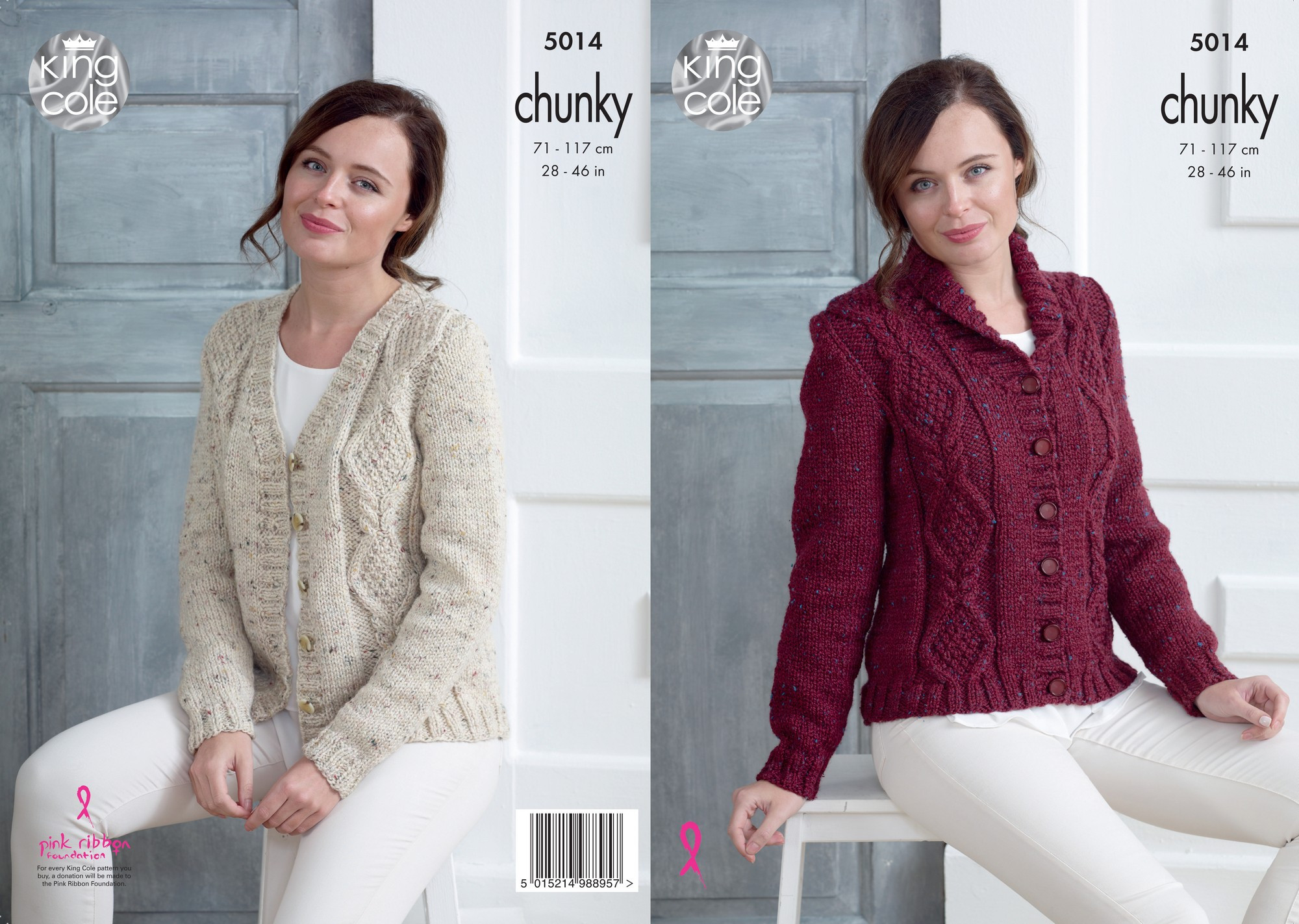 Cardigans in King Cole Chunky Tweed