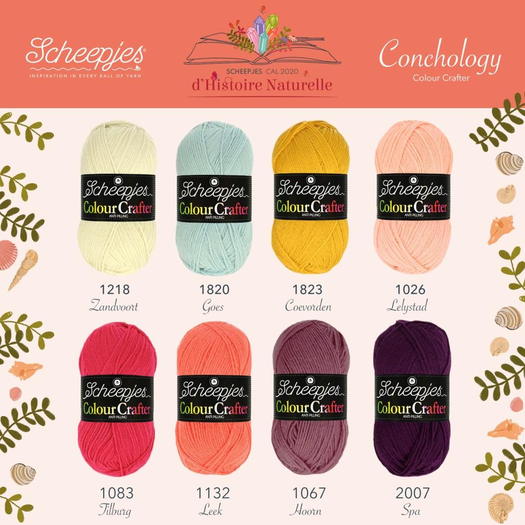 Scheepjes CAL 2020 - d'Histoire Naturelle Colour Crafter - Conchology