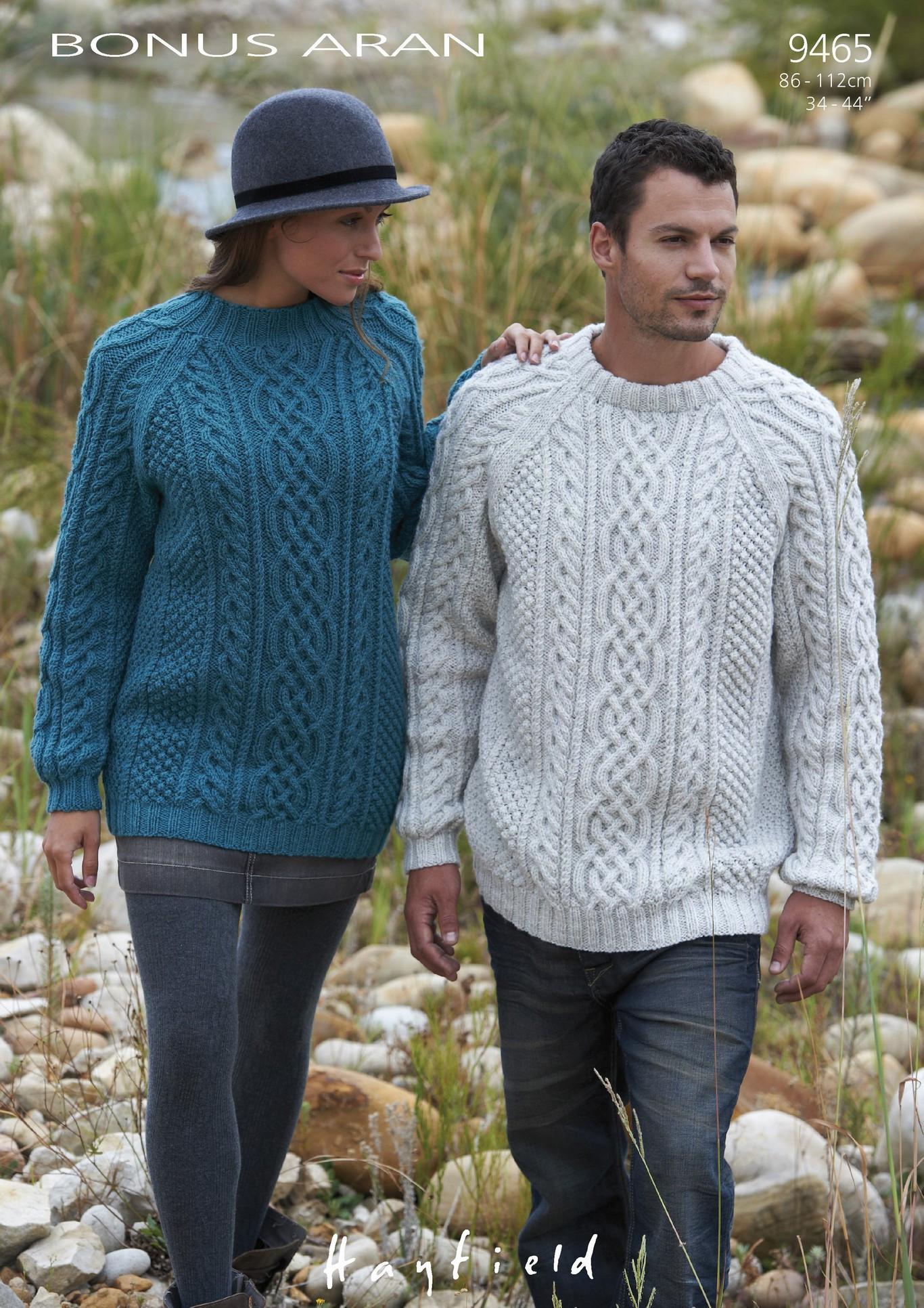Unisex Hayfield Bonus Aran Sweaters