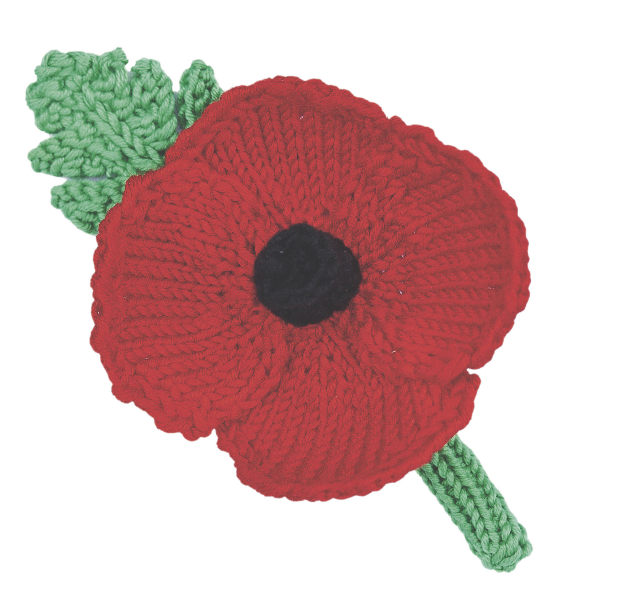 Knitted Poppy Pattern