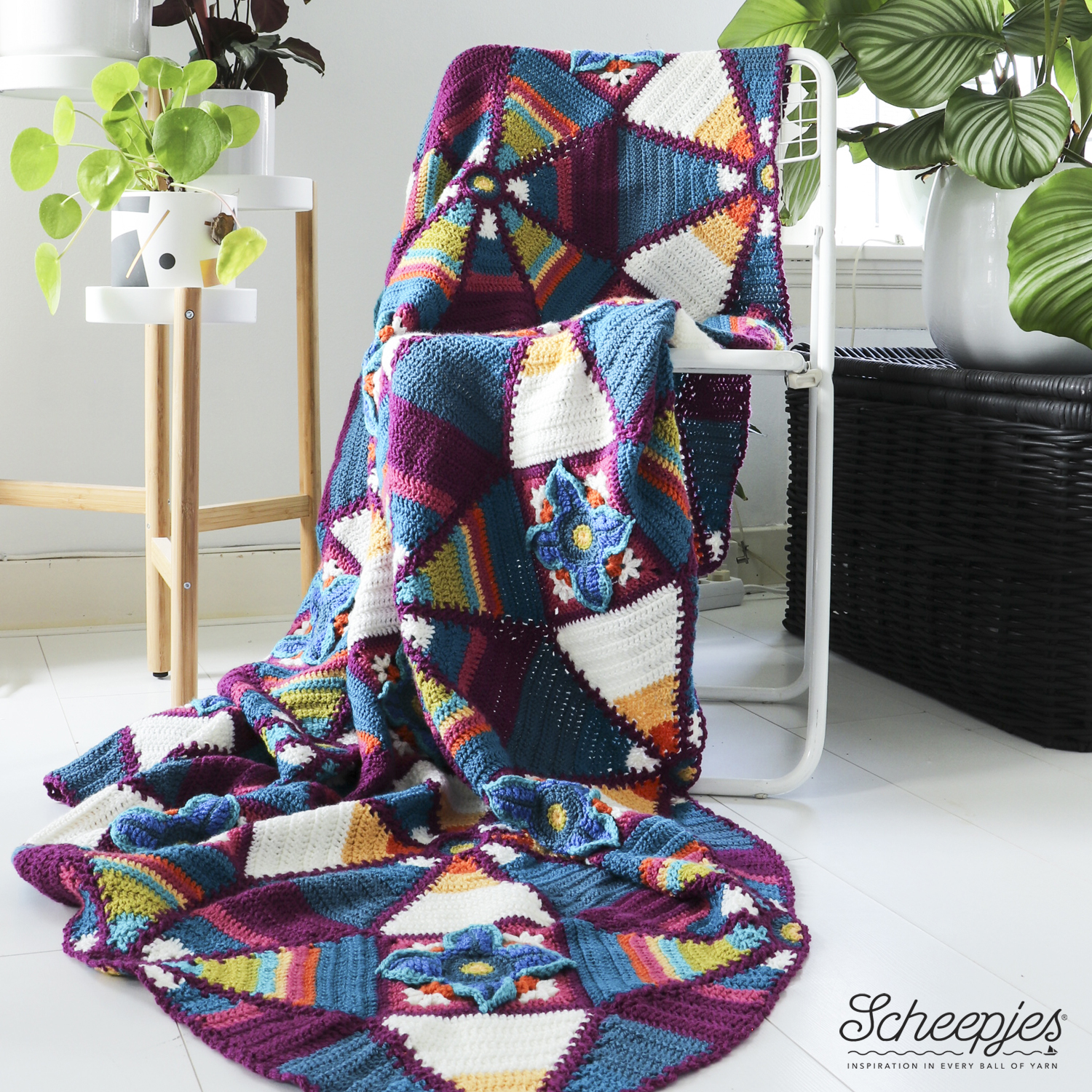 Royal Garden Crochet Blanket Colour Crafter Colour Pack