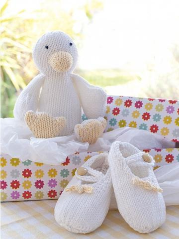 Baby duck and boots knitting patterns